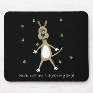 Funny Lightning Bug Dog Mouse Pad