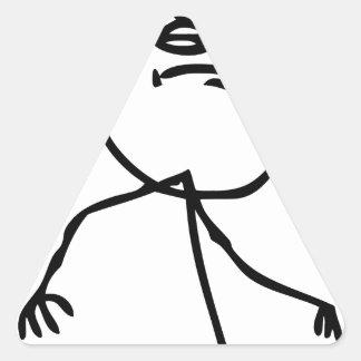 "Funny ""Like a Boss"" meme Triangle Sticker"