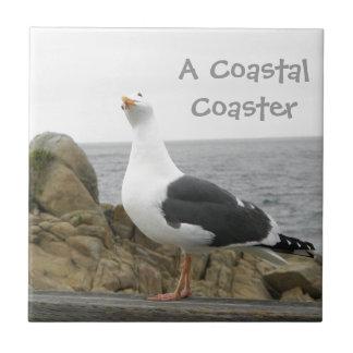 Funny Lil Seagull Ceramic Tile