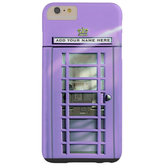 Funny Lilac British Phone Box Personalized Barely There iPhone 6 Plus Case