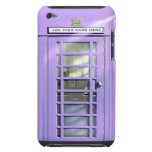 Funny Lilac British Phone Box Personalized iPod Touch Covers