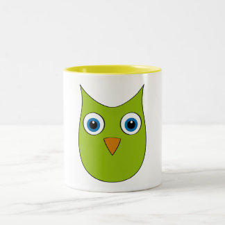 Funny Lime Green Owl - Eyes wide open... Coffee Mug