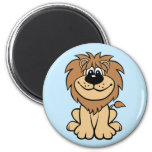 Funny Lion 2 Inch Round Magnet