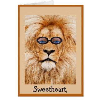 Funny Lion Valentine's Card
