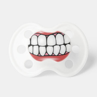 Funny Lips and Big Adult Teeth Baby Soother Pacifier
