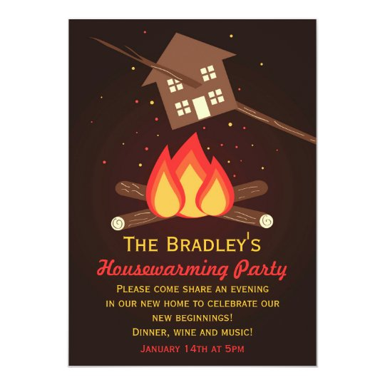 Funny Literal Housewarming Party Invitations Zazzlecom