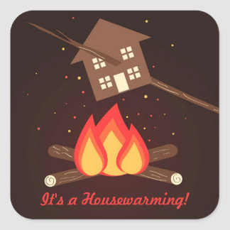 Funny Literal Housewarming Party Stickers