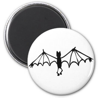Funny Little Bat 2 Inch Round Magnet