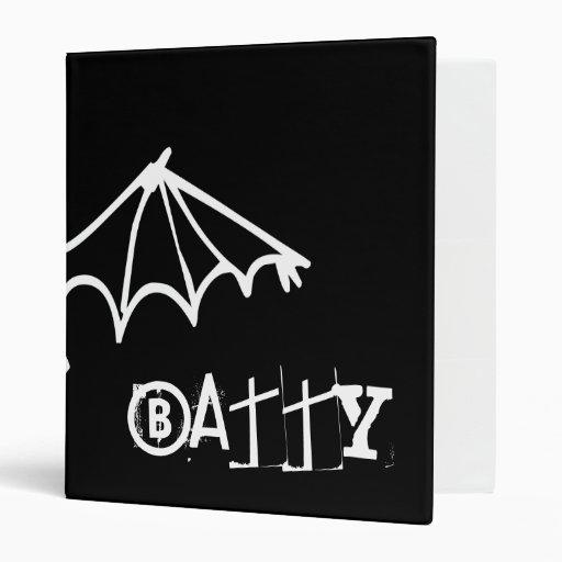 Funny Little Bat - Batty 3 Ring Binders
