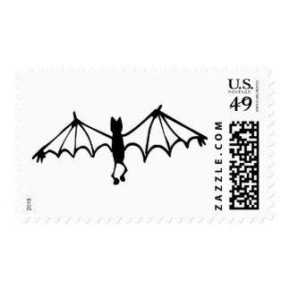 Funny Little Bat Postage Stamps