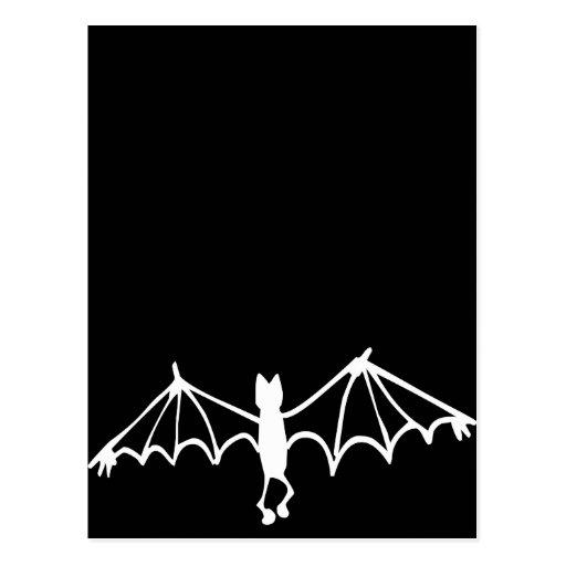 Funny Little Bat White Post Cards