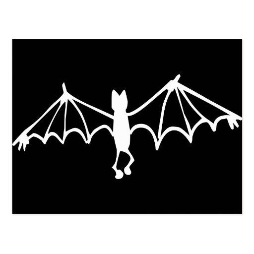 Funny Little Bat White Postcard