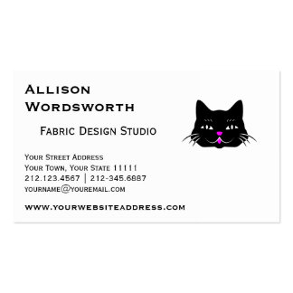 Funny Little Black Cat Business Card Templates