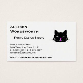Funny Little Black Cat Business Card
