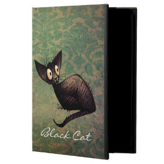 Funny Little Black Oriental Cat iPad Air Cases