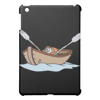 funny little boy in boat case for the iPad mini