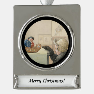 Funny Little Fellow Silver Plated Banner Ornament