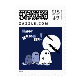 Funny Little Ghosts Halloween Postage Stamps