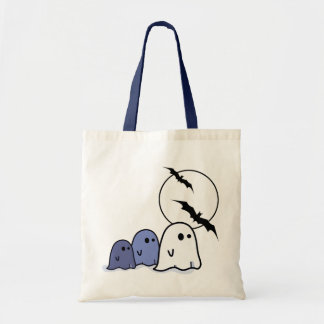 Funny Little Ghosts Halloween Tote Bags