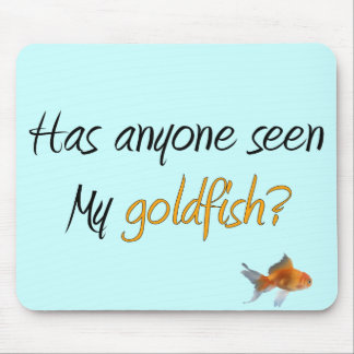 Funny Little Goldfish Gifts Mouse Pad