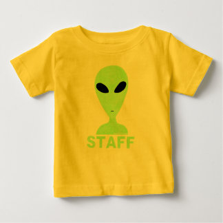 Funny Little Green Men Sci-Fi Geek Staff Tee Shirt