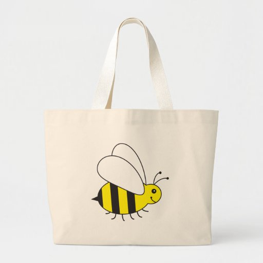 Funny Little Honey Bee Cute Tote Bags