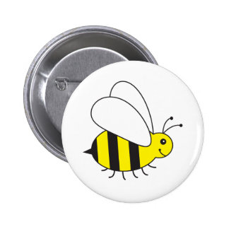 Funny Little Honey Bee Cute Button
