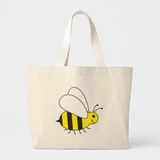Funny Little Honey Bee Cute Large Tote Bag