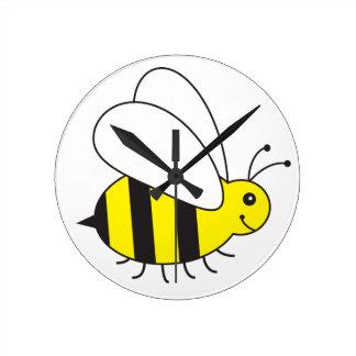 Funny Little Honey Bee Cute Round Clock