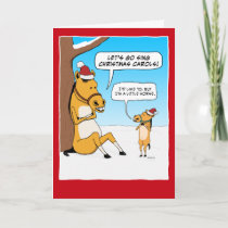 Funny Little Horse Christmas Holiday Card