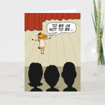 Funny Little Horse Play Happy Birthday Card