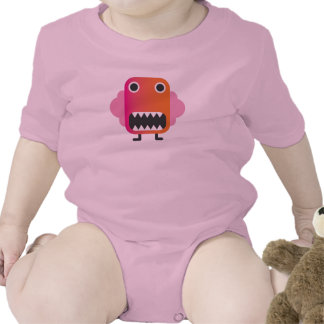 Funny little monster in baby suit shirts