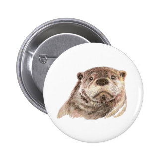 Funny Little Otter, Cute Animal Nature Pinback Button