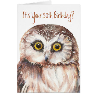 owl birthday cards  zazzle, Birthday card