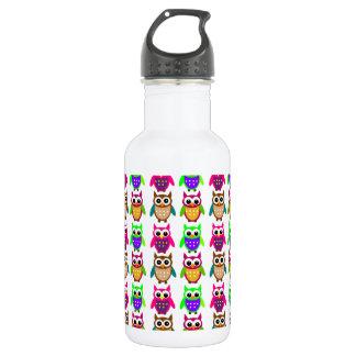 funny little owls water bottle