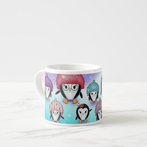 Funny Little Penguins 6 Oz Ceramic Espresso Cup