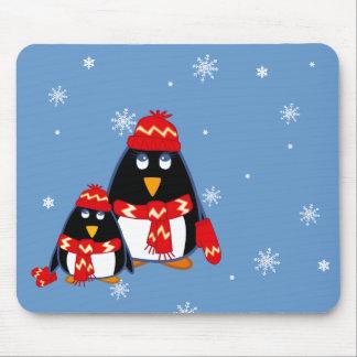 Funny Little Penguins Christmas Gift  Mousepads