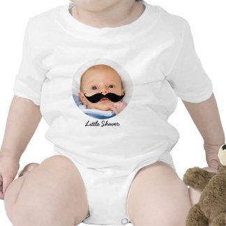 Funny Little Shaver Mustache Custom Baby Shirt