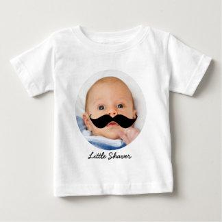 Funny Little Shaver Mustache Custom Photo Baby T-Shirt