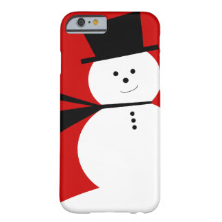 Funny Little Snowman with Elegant Top Hat Barely There iPhone 6 Case
