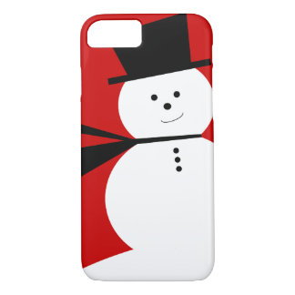 Funny Little Snowman with Elegant Top Hat iPhone 8/7 Case