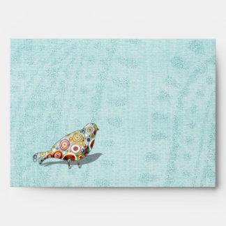 Funny Little Whimsical  Bird Envelope