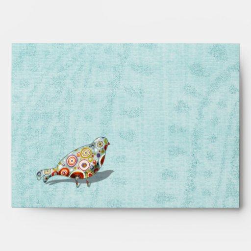 Funny Little Whimsical  Bird Envelopes