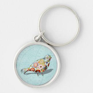 Funny Little Whimsical  Bird Keychain