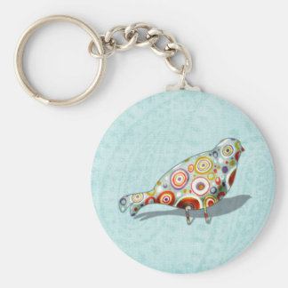 Funny Little Whimsical  Bird Key Chain