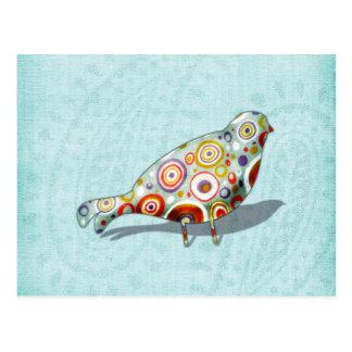 Funny Little Whimsical  Bird Post Card