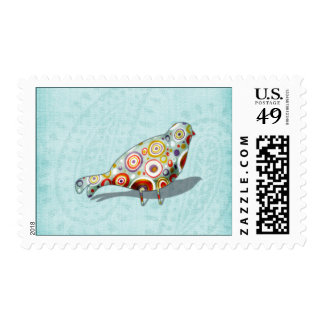 Funny Little Whimsical  Bird Postage