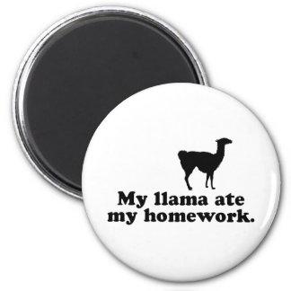 Funny Llama 2 Inch Round Magnet