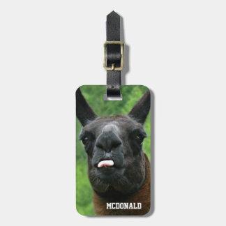 Funny Llama Attitude Tag For Your Bag