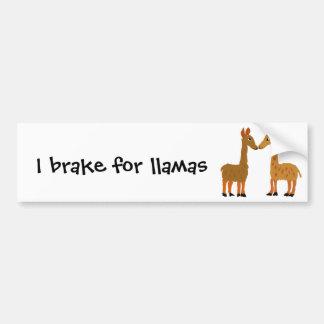 Funny Llama Love Primitive Art Car Bumper Sticker